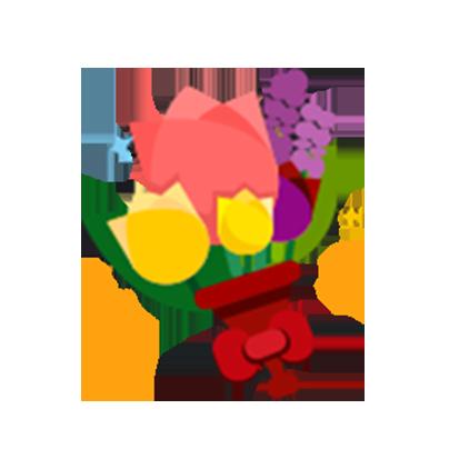 微笑,陪玩收到礼物鲜花