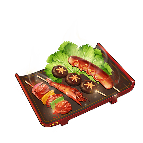 Z❀白菜菜陪玩收到礼物羊肉串