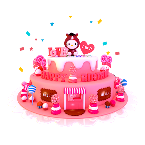 糖小凡陪玩收到礼物生日蛋糕