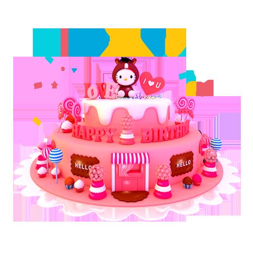 Kx妙璇陪玩收到礼物生日蛋糕