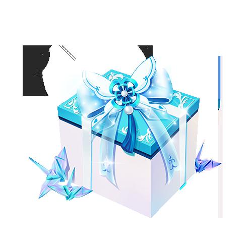 雪雪。陪玩收到礼物幸运宝盒