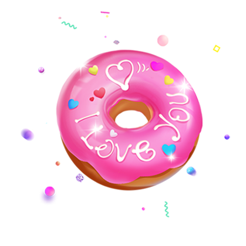 雪雪。陪玩收到礼物可爱甜甜圈