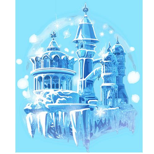 夏哩个夏陪玩收到礼物冰雪城堡